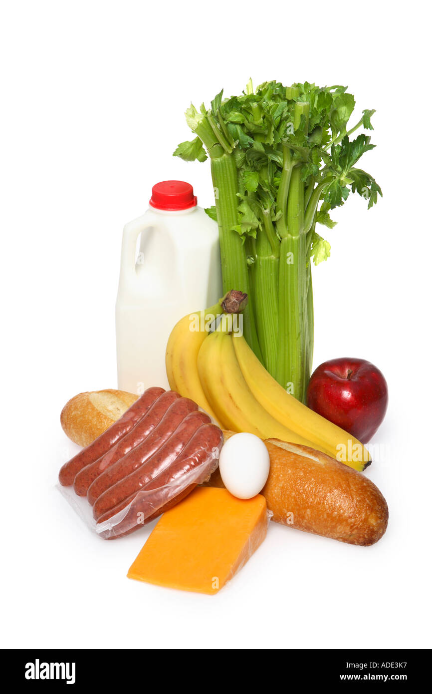 Groceries - Stock Image