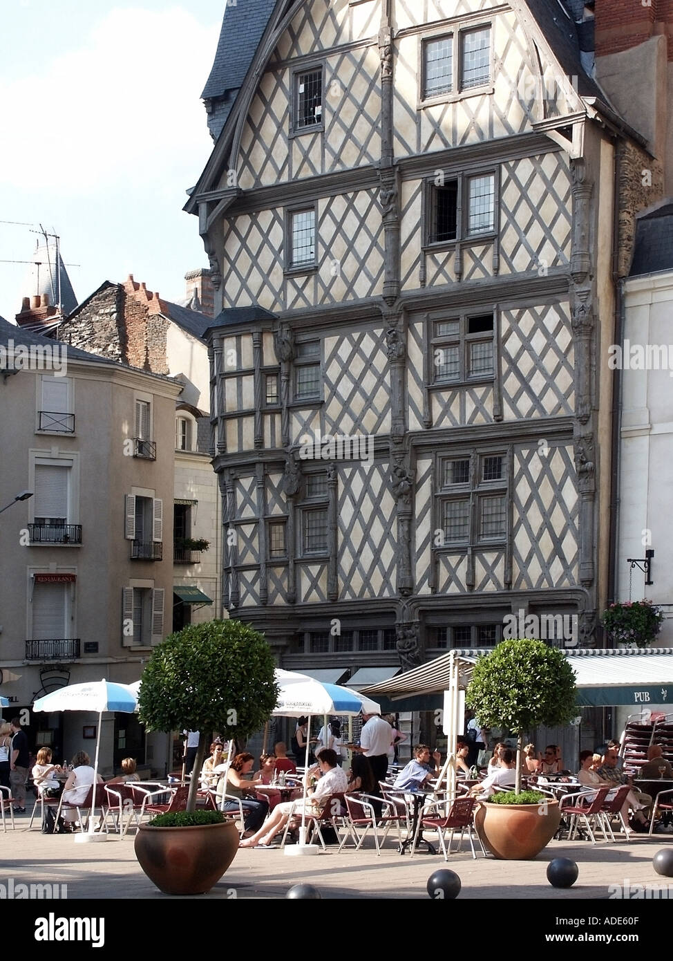 France Loire Valley And Centre Maine Et Loire Anjou Angers Old Town Stock Photo Alamy