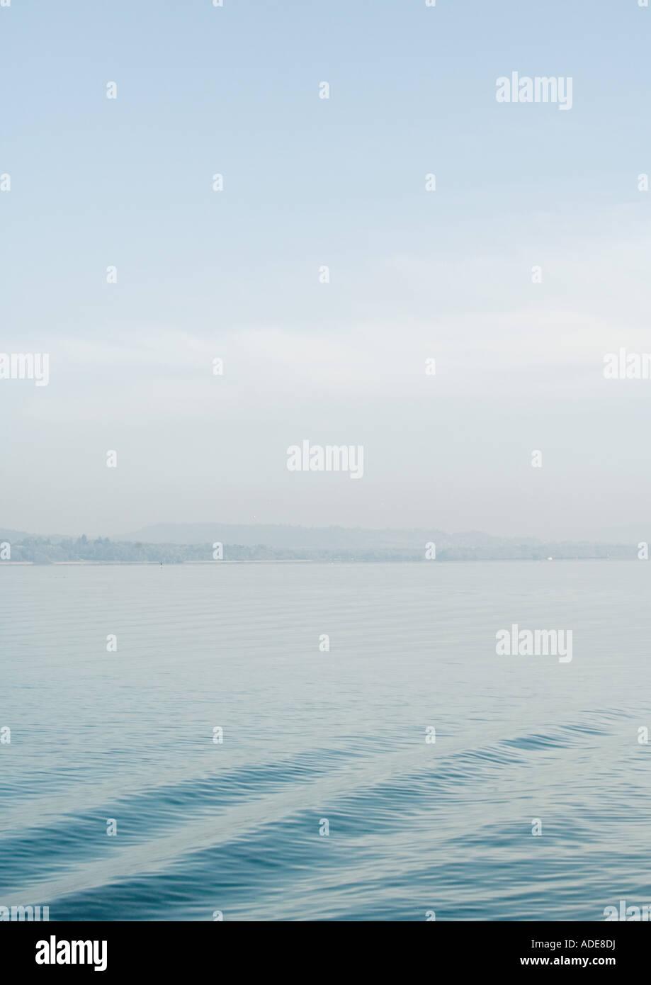 Lake, surface of water rippling - Stock Image