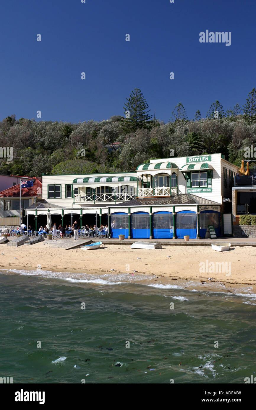 Doyles Famous Seafood Restaurant Watsons Bay Sydney Harbour Australia - Stock Image