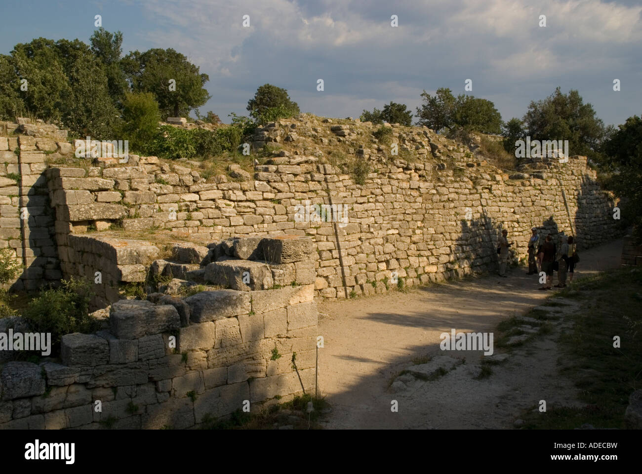 City wall of ancient city of Troy VI - Stock Image