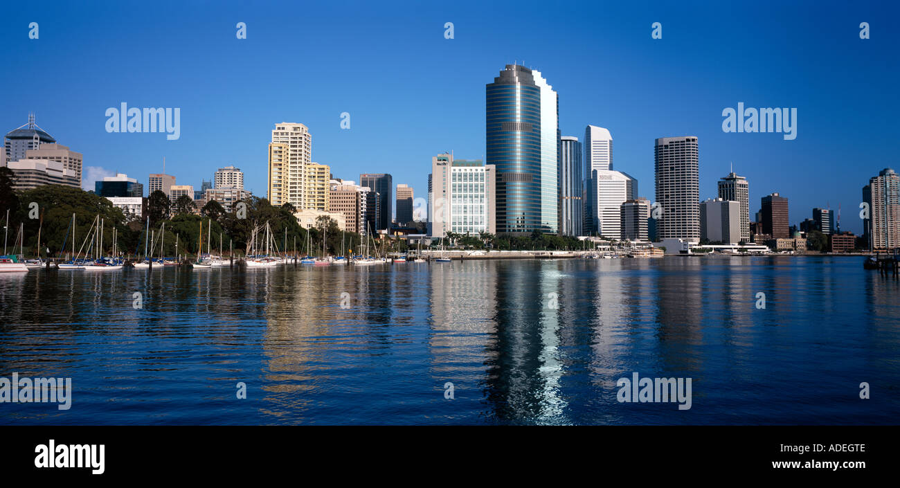 Australia. Queensland. Brisbane. City overview from across the river. - Stock Image