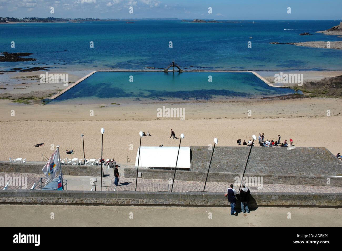 Saint Malo Beach And Natural Pool Ille Et Vilaine Brittany