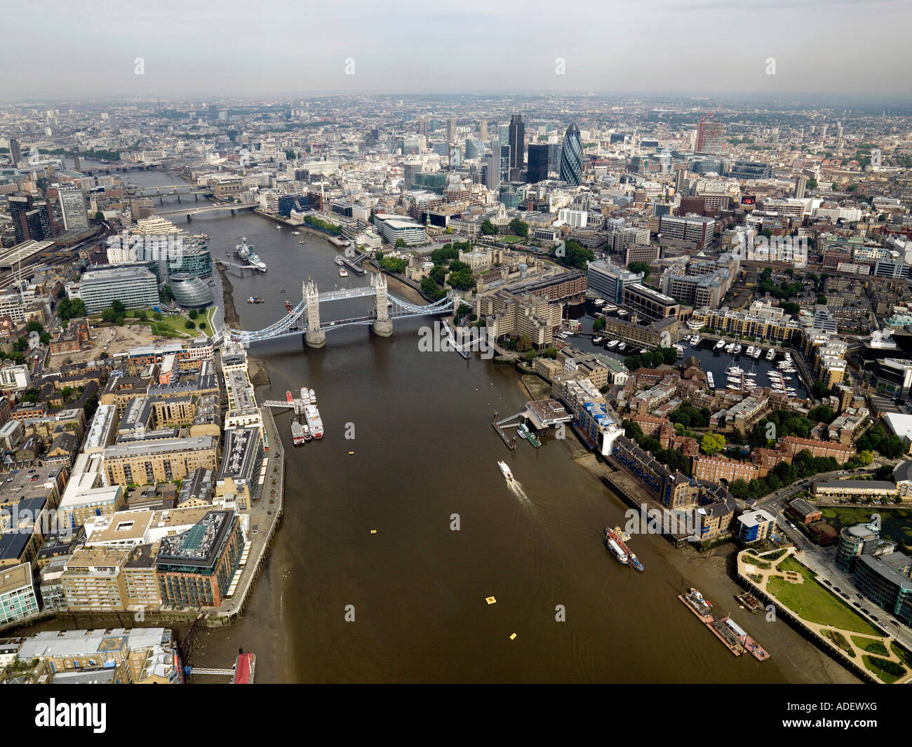 City of London aerial Stock Photo