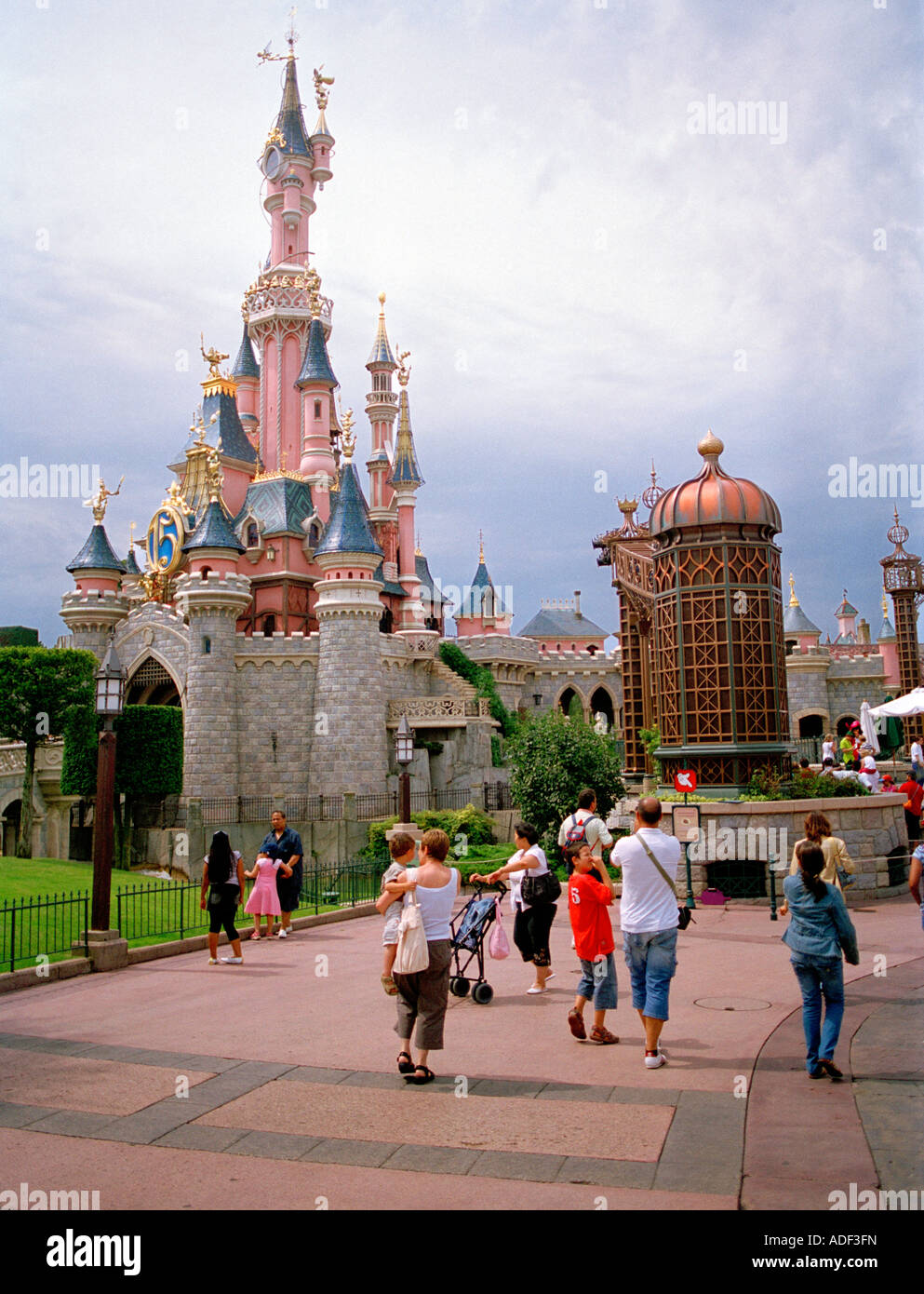 Fairytale castle in fantasy land disneyland, Paris, France, Europe. - Stock Image