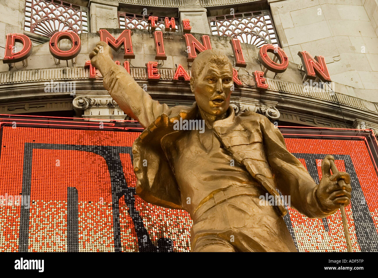 Freddie Mercury Statue At The Dominion Theatre London
