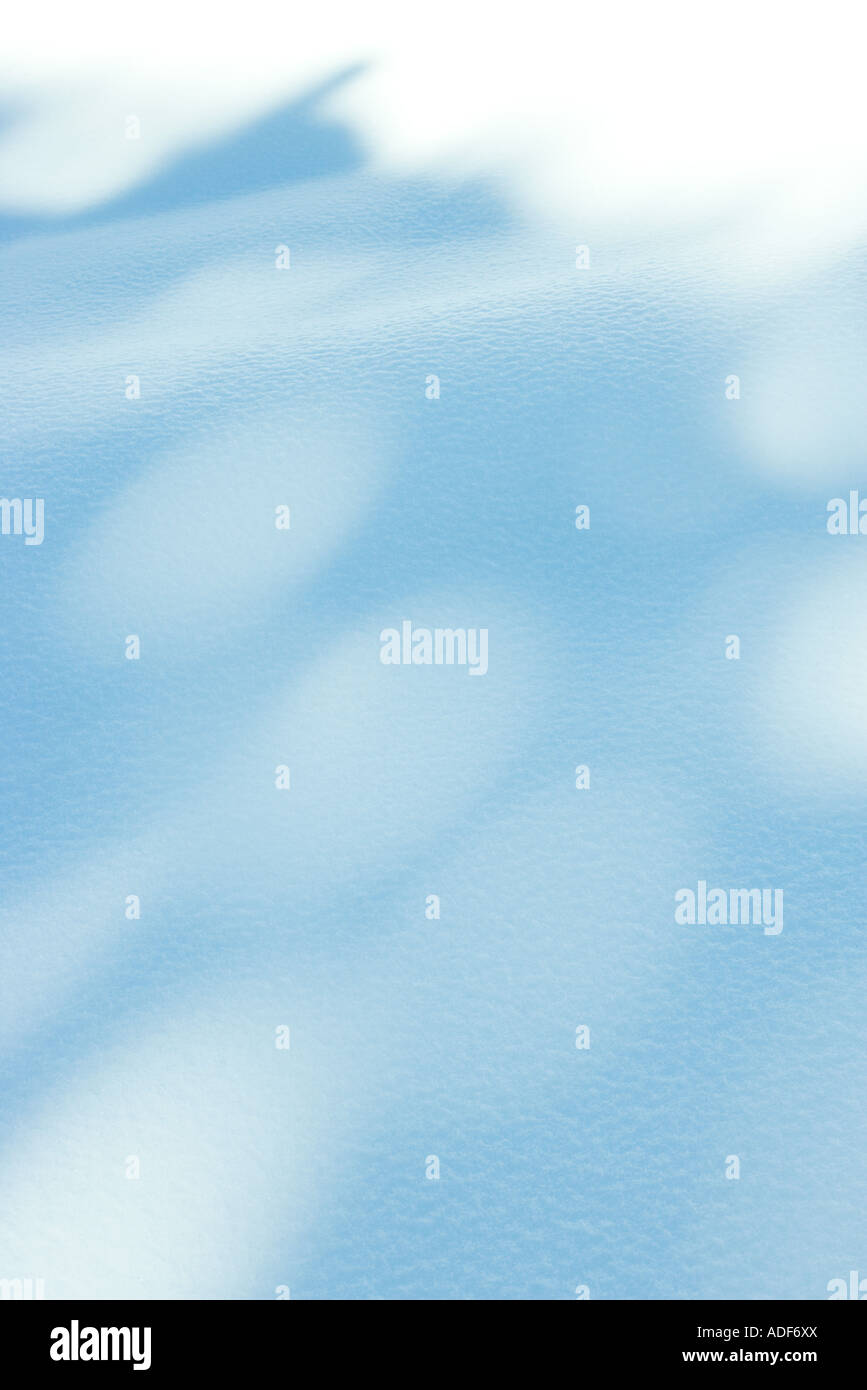 Shadows on snow - Stock Image