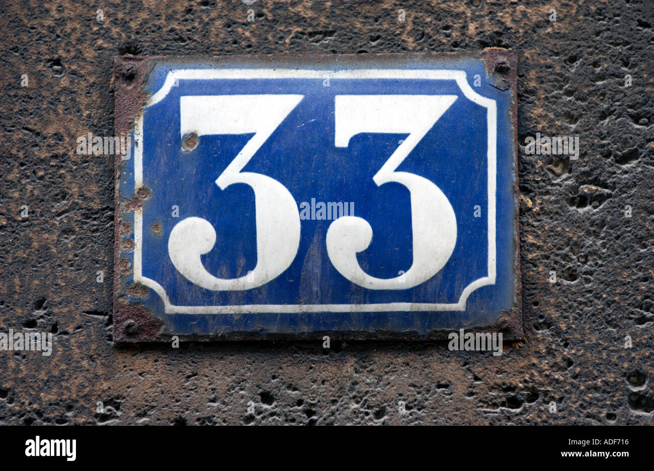 Old fashioned house numbers
