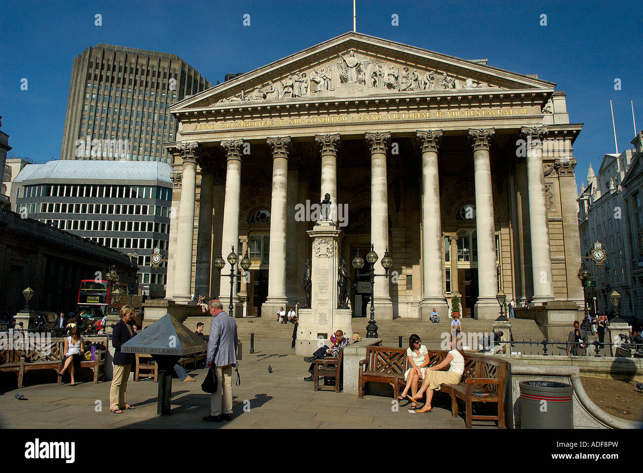 England London Bank The Royal Exchange - Stock Image