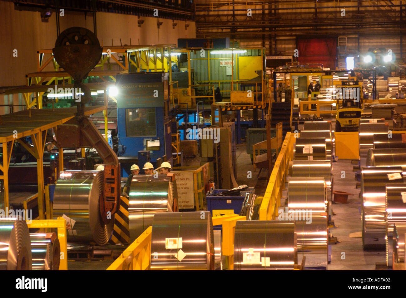 Corus Ebbw Vale tinplate works where there has been over 200 years of iron steel production South Wales UK - Stock Image