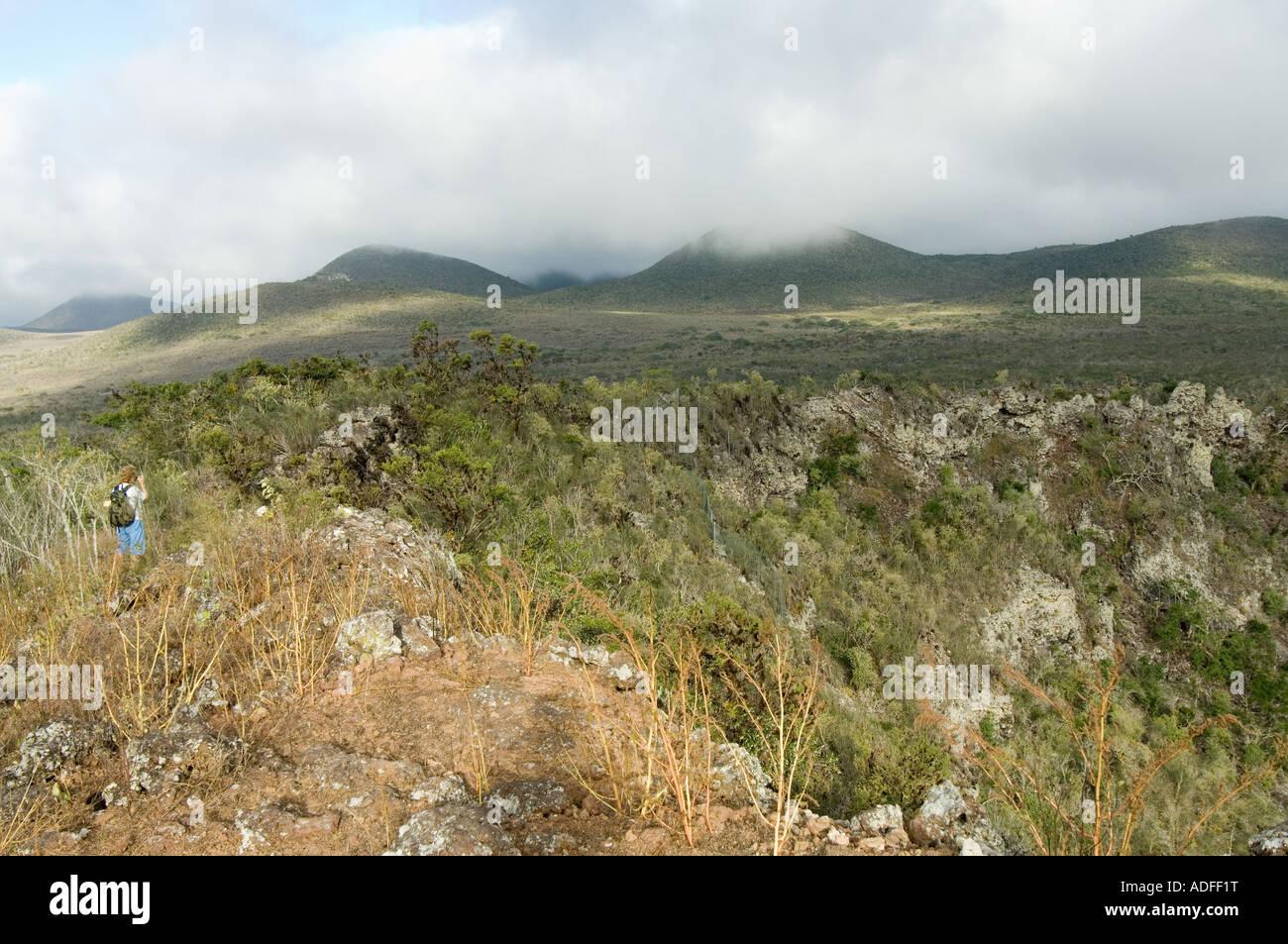 Landscape Parte Alta Puerto Velasco Ibarra Floreana Galapagos Ecuador - Stock Image