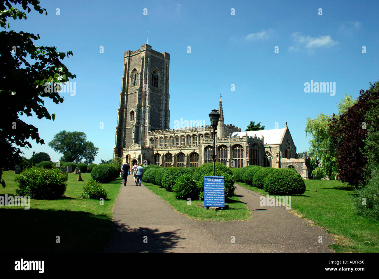 Lavenham Church Suffolk England - Stock Image