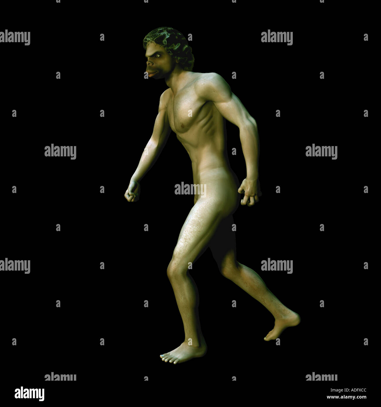 cave man prehistoric relative of humans early homosapien - Stock Image