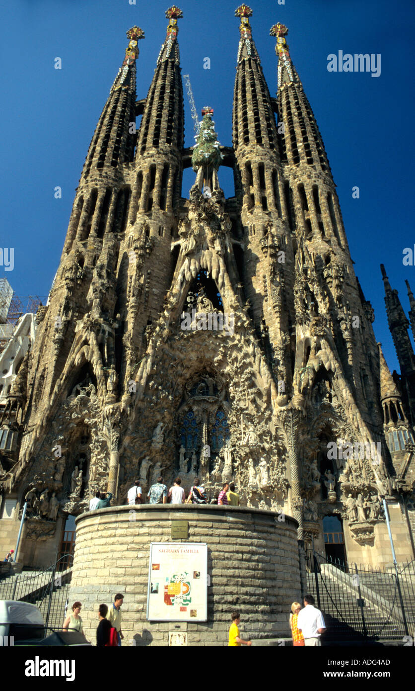 Gaudi S Unfinished Church Of The Sagrada Famiglia In Barcelona Is A
