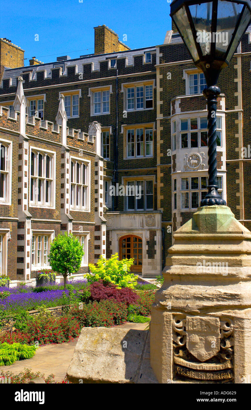 Middle Temple Hall and Gardens Inns of Court London UK - Stock Image