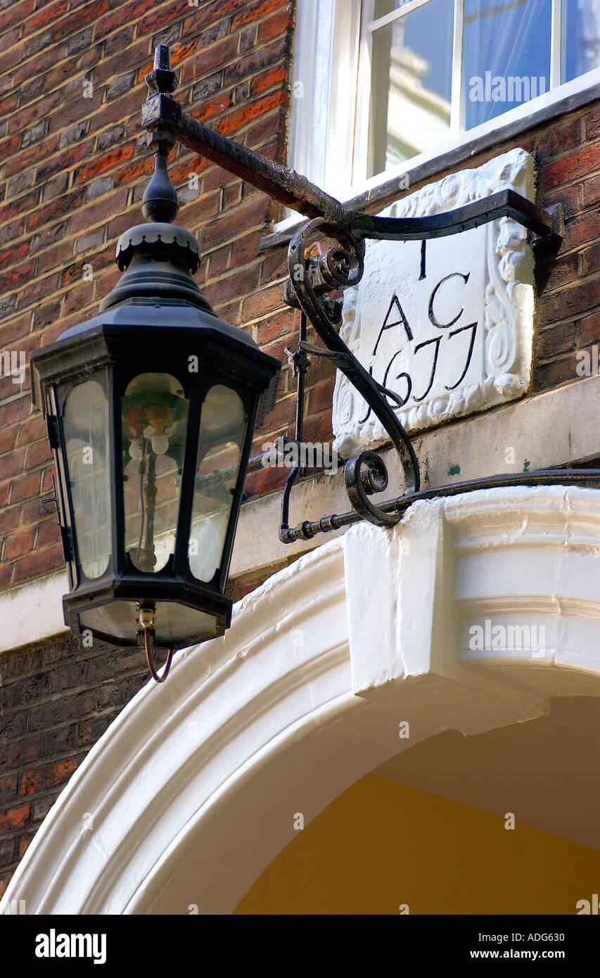 Gas Lamp Inns of Court London UK - Stock Image