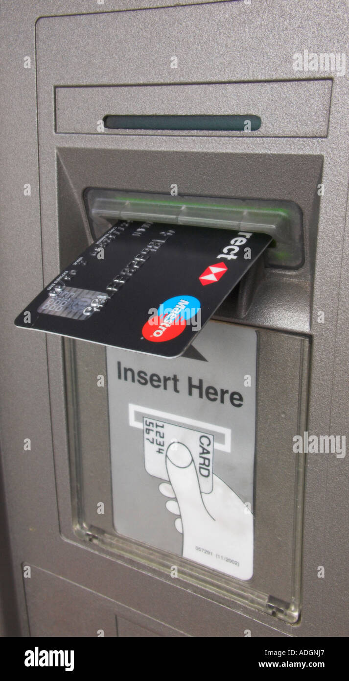 Europe UK england london credit card machine - Stock Image
