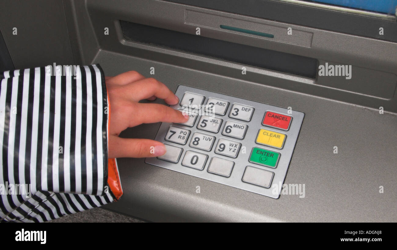 Europe UK england london credit card machine keypad - Stock Image