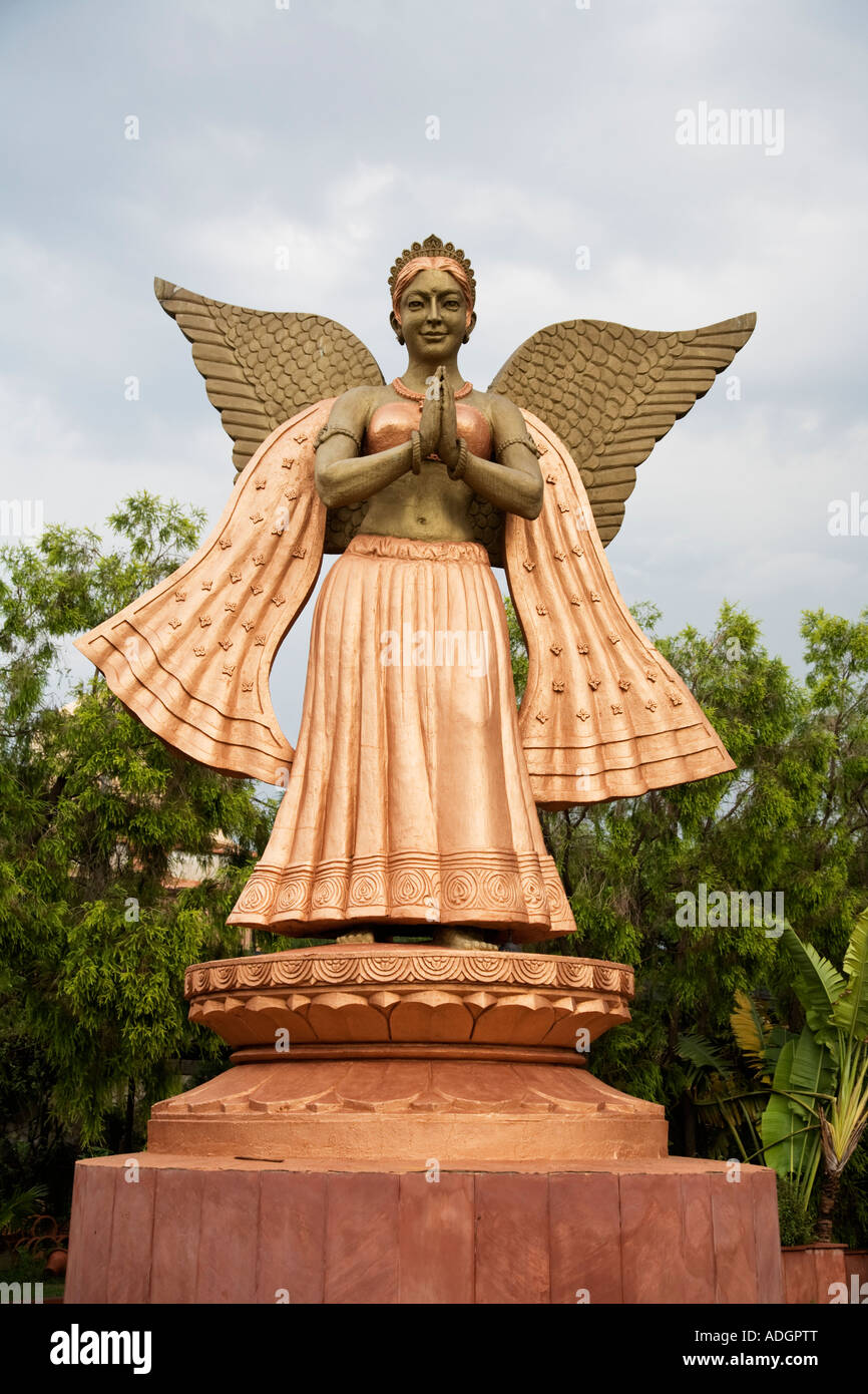 Statue of one of the many Hindu Gods in the city of Delhi India - Stock Image