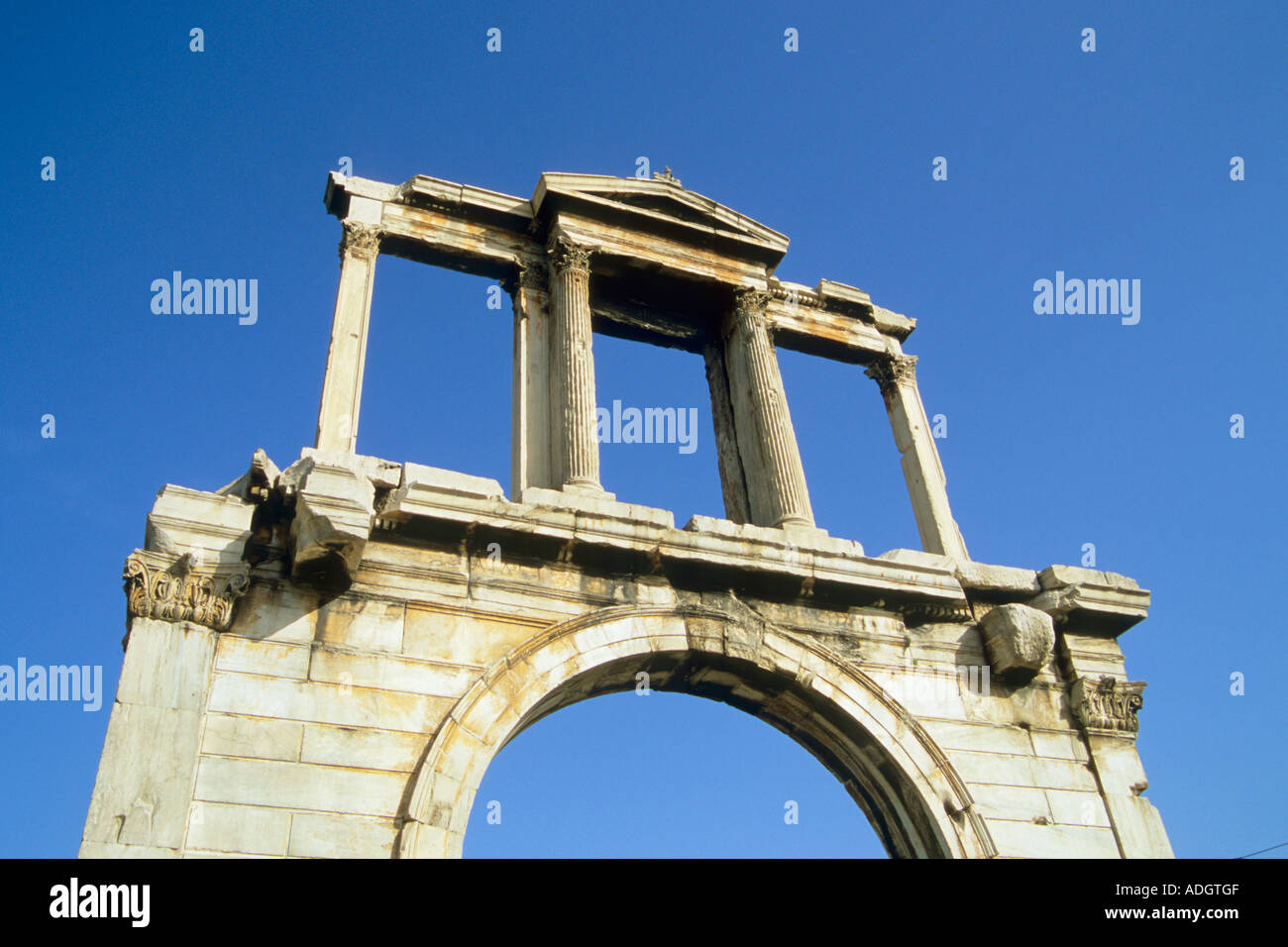 Greece Athens Hadrian s Arch - Stock Image