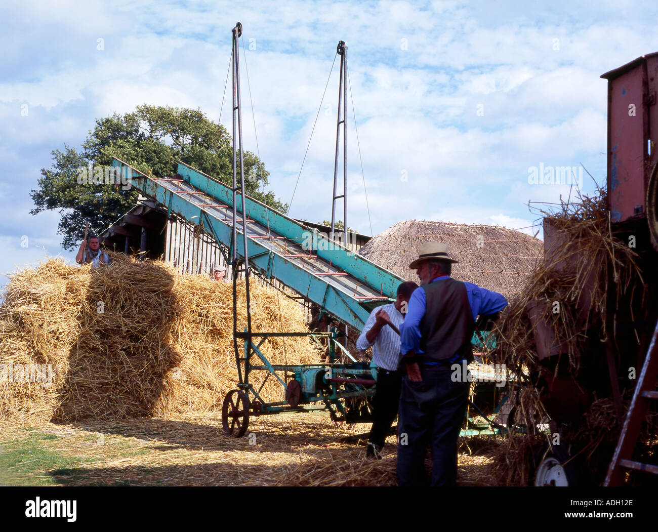 Part Of A Traditional Steam Powered Threshing Systems This