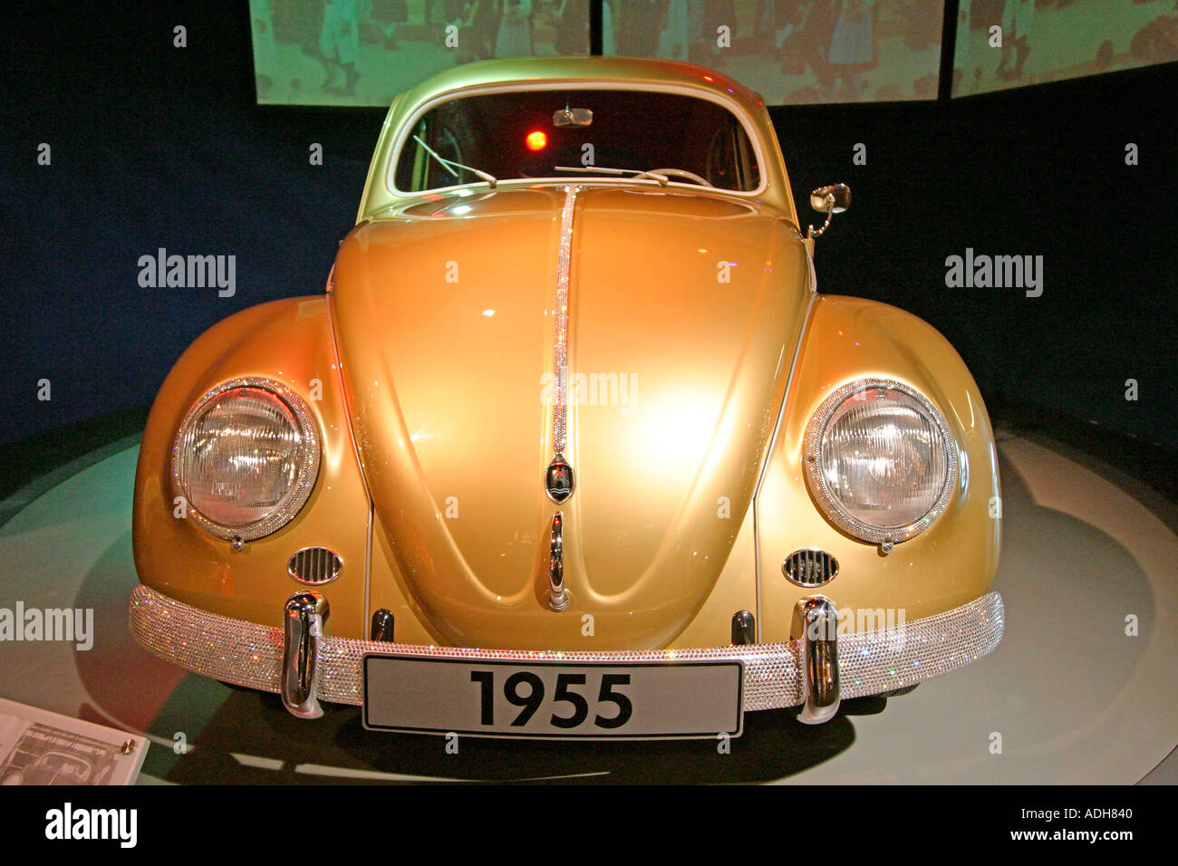 Germany Wolfsburg Autostadt car city of Volkswagen AG VW Beetle 1955  - Stock Image