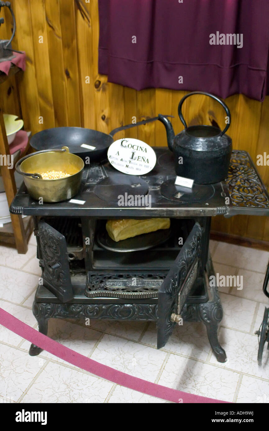 stove, wood range - Stock Image