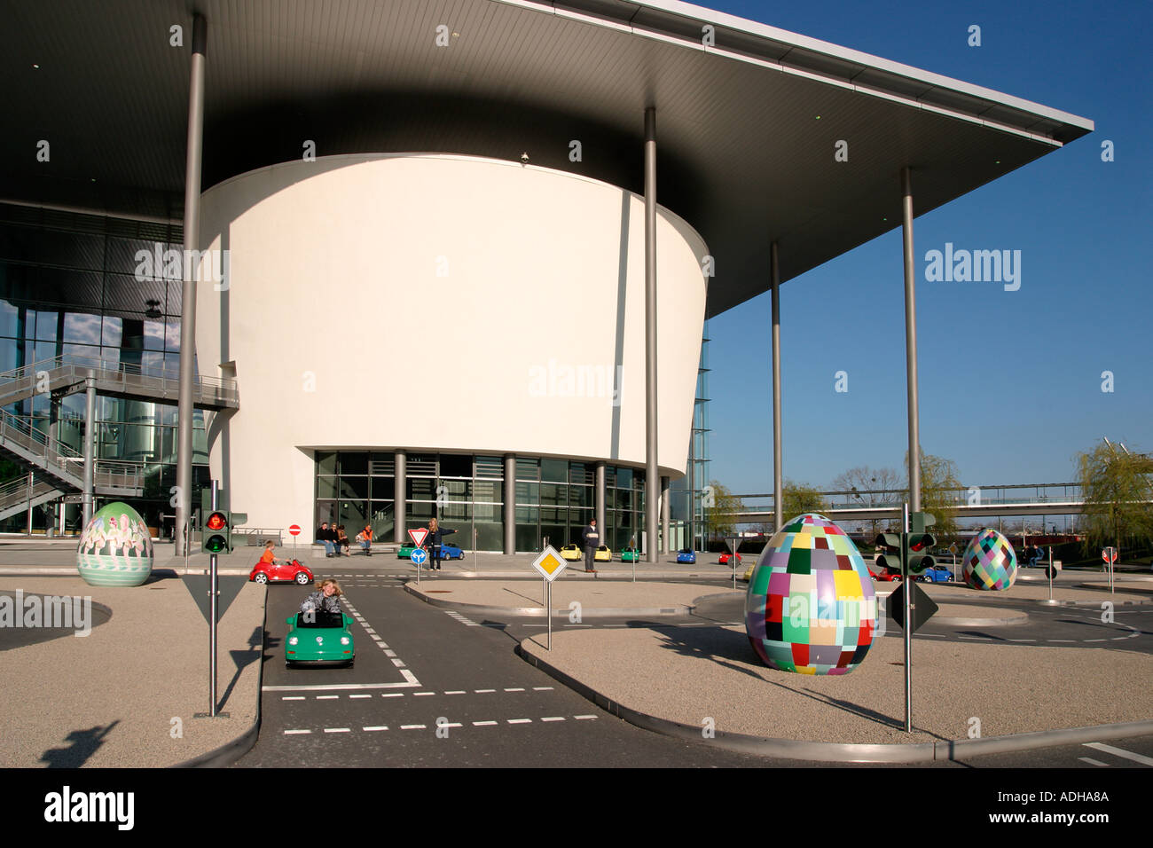 7ea623d2e2 Germany Wolfsburg Autostadt car city of Volkswagen AG children in little  beetle cabrio in driving lesson