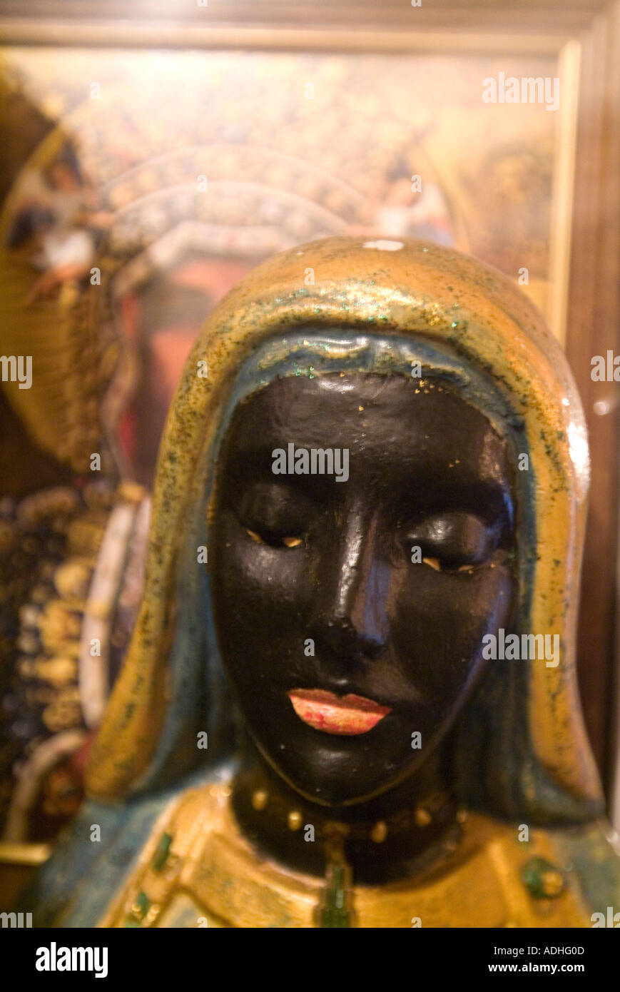 Close-up of a Voodoo statue of a woman - Stock Image