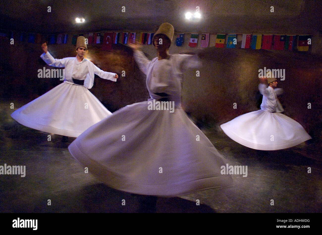 Whirling Dervishes, Cappadocia, Turkey - Stock Image