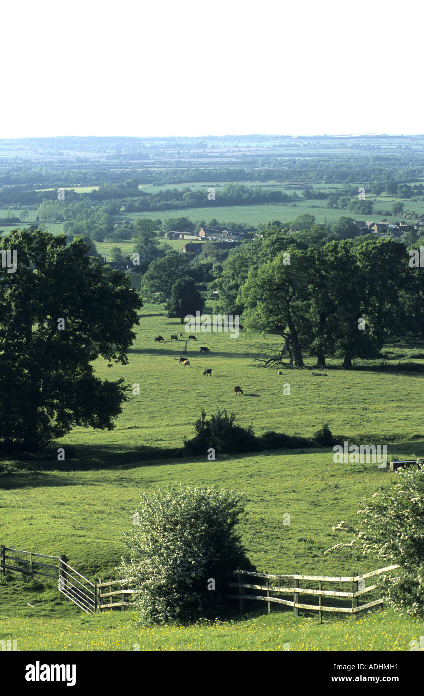 View over Edgehill Battlefield from Edge Hill, Warwickshire, England, UK - Stock Image