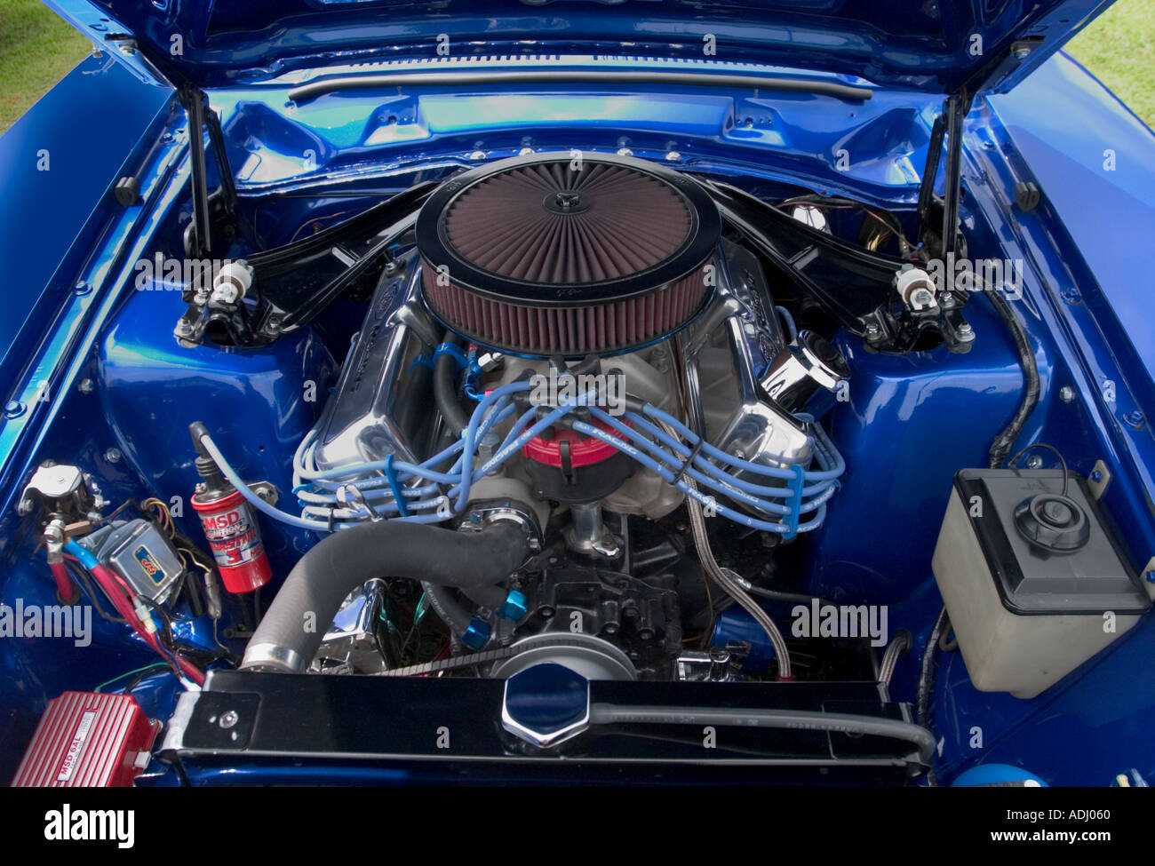 American Muscle Car Customized V8 Engine Stock Photo 2482271 Alamy