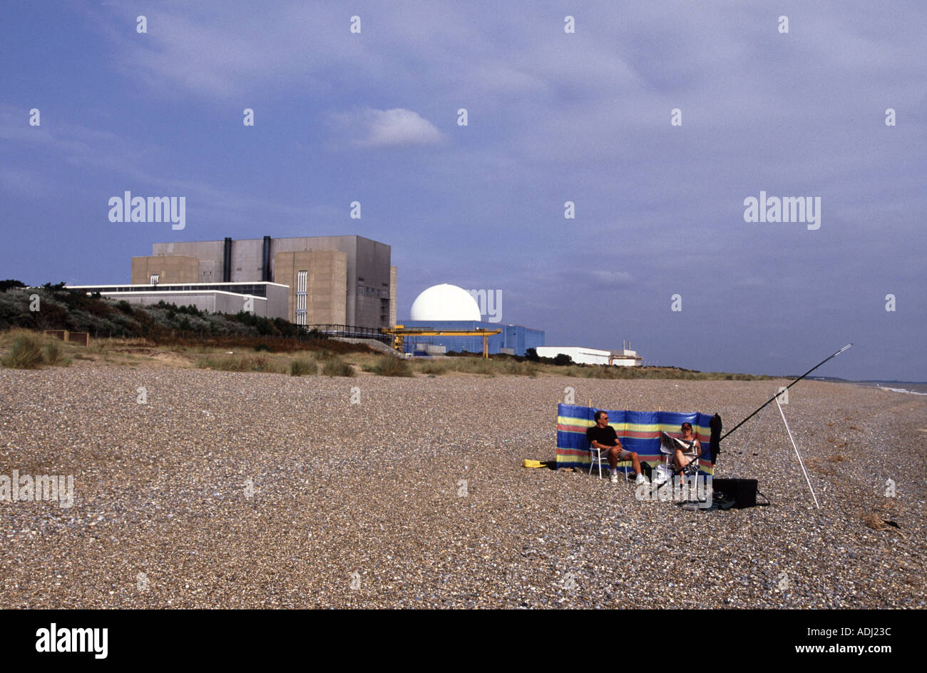 Sizewell A and B Nuclear power stations, Suffolk, UK. - Stock Image