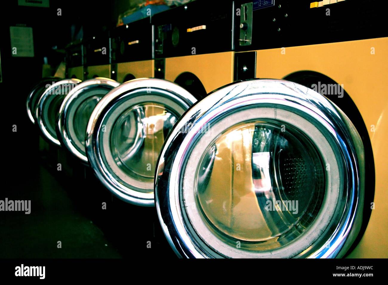 Empty Laundrette - Stock Image