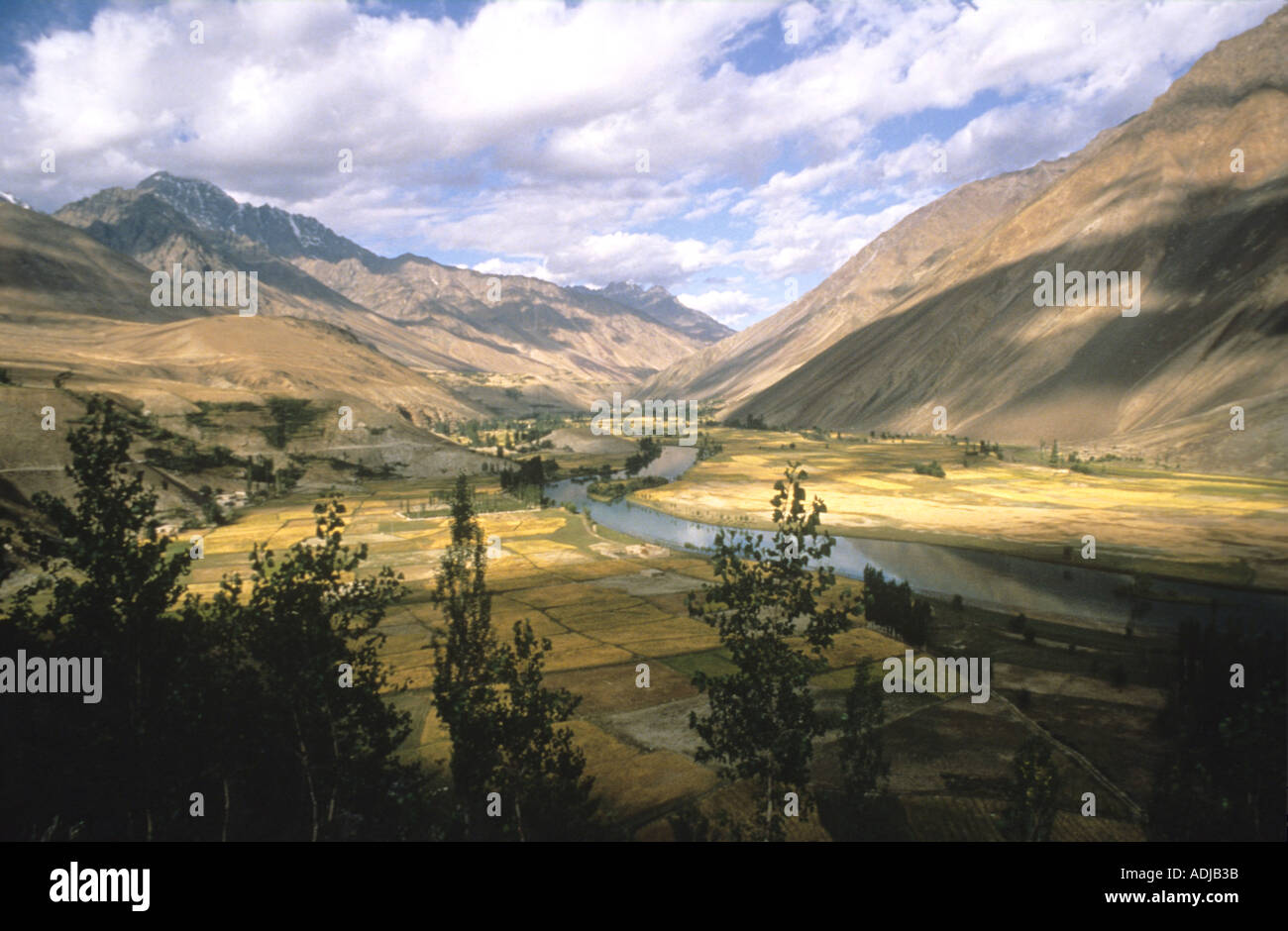 Shandur Pass going from Chitral in the NW Frontier to Gilgit on the Karakorum ,KKH ,Highway Pakistan - Stock Image