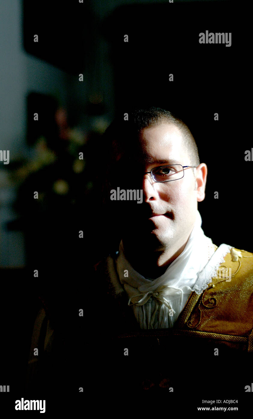 Portrait of Father Craig Barber - Stock Image