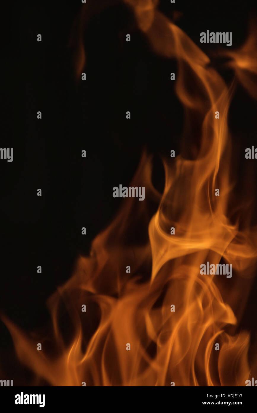 Flames, full frame - Stock Image