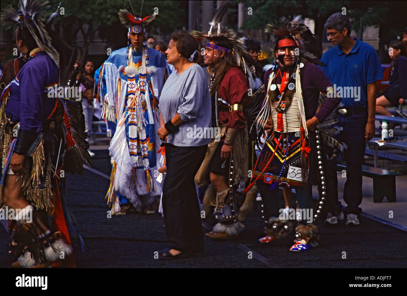 Tanzfestival der Ogalalla Sioux Dance of the Ogalalla Sioux - Stock Image
