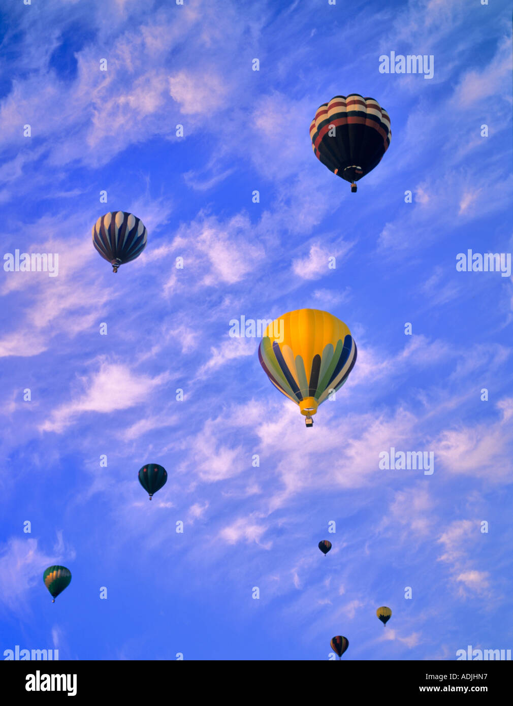 Hot air balloons taking off Art and Air Festival Albany Oregon - Stock Image