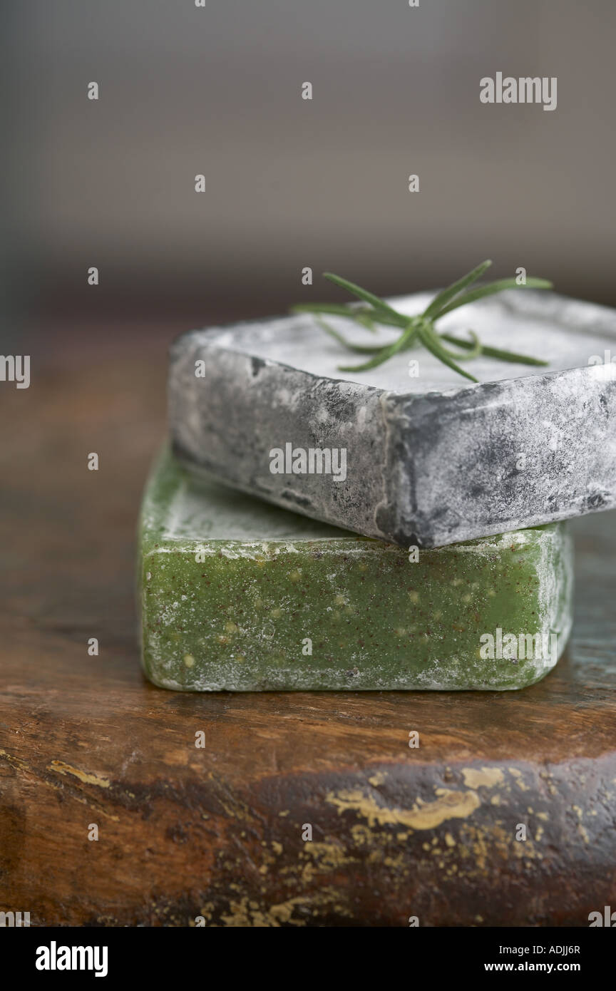bath items soap two - Stock Image