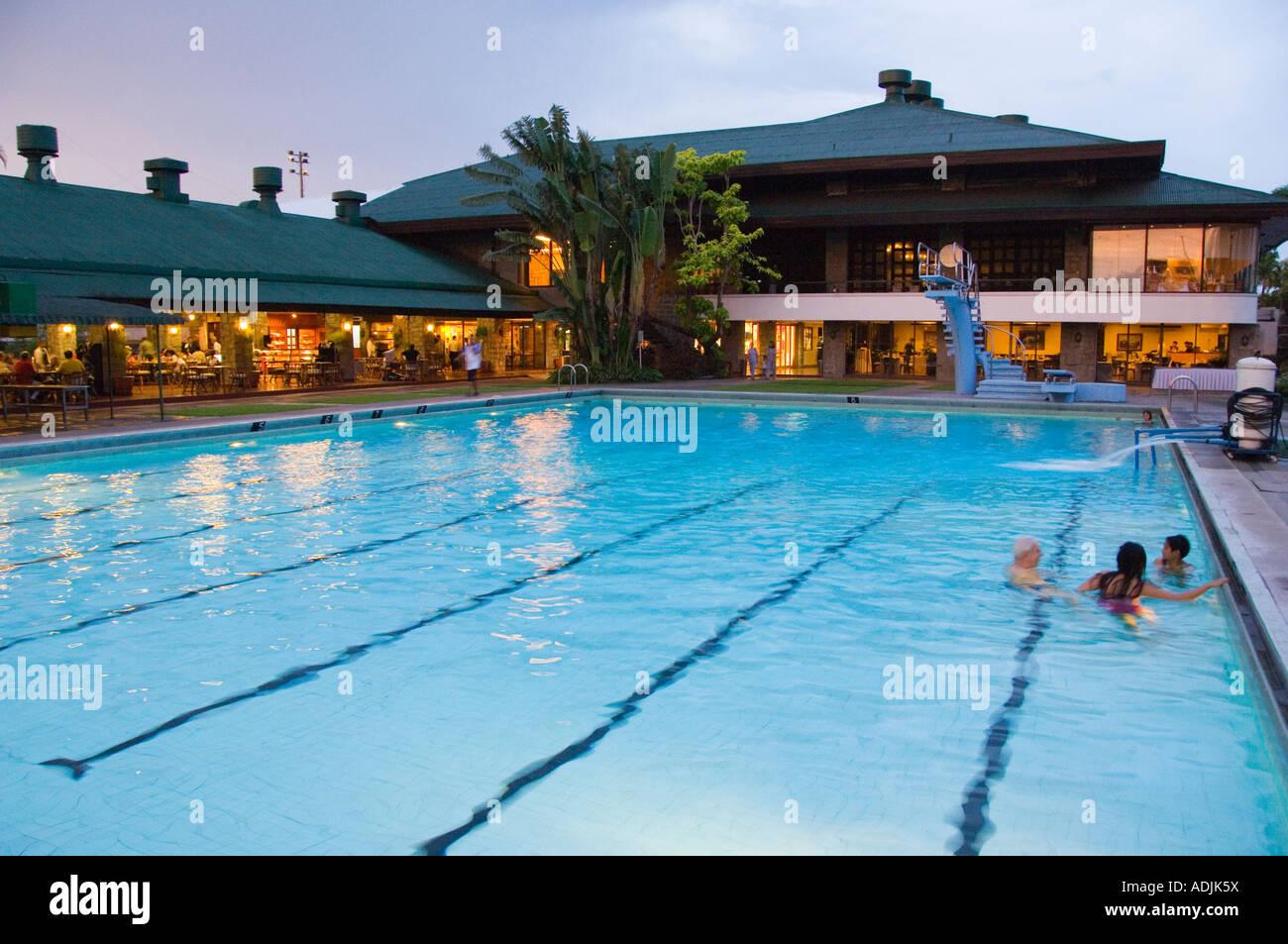 philippines manila manila polo club swimming pool stock photo 13434805 alamy