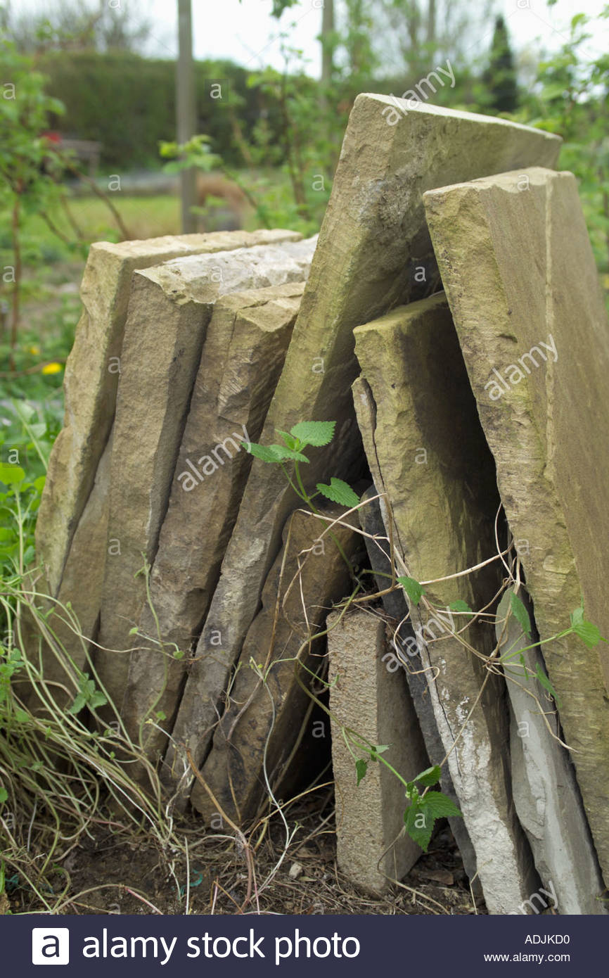 York stone paving slabs Stock Photo