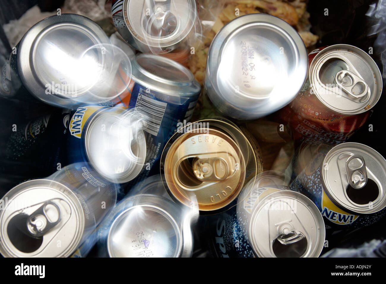 recycling aluminium cans - Stock Image