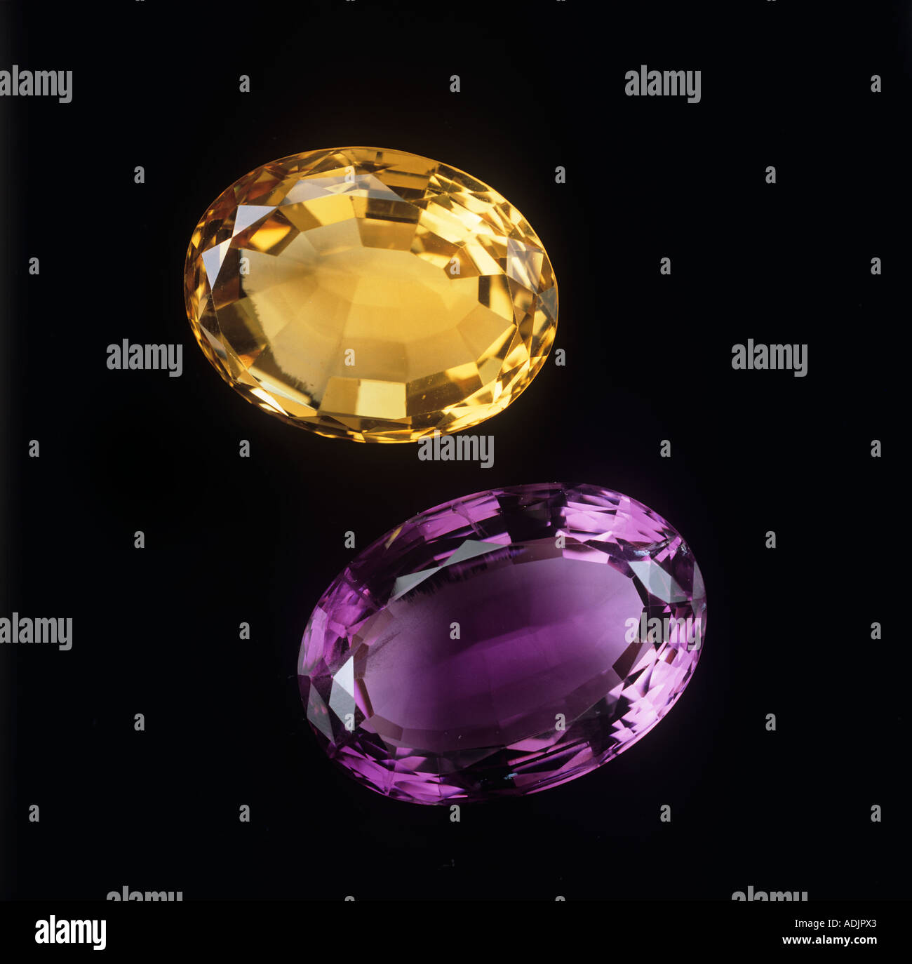 Citrine and amethyst - Stock Image