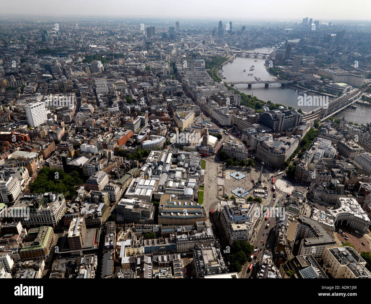 London aerial showing towards the City Stock Photo