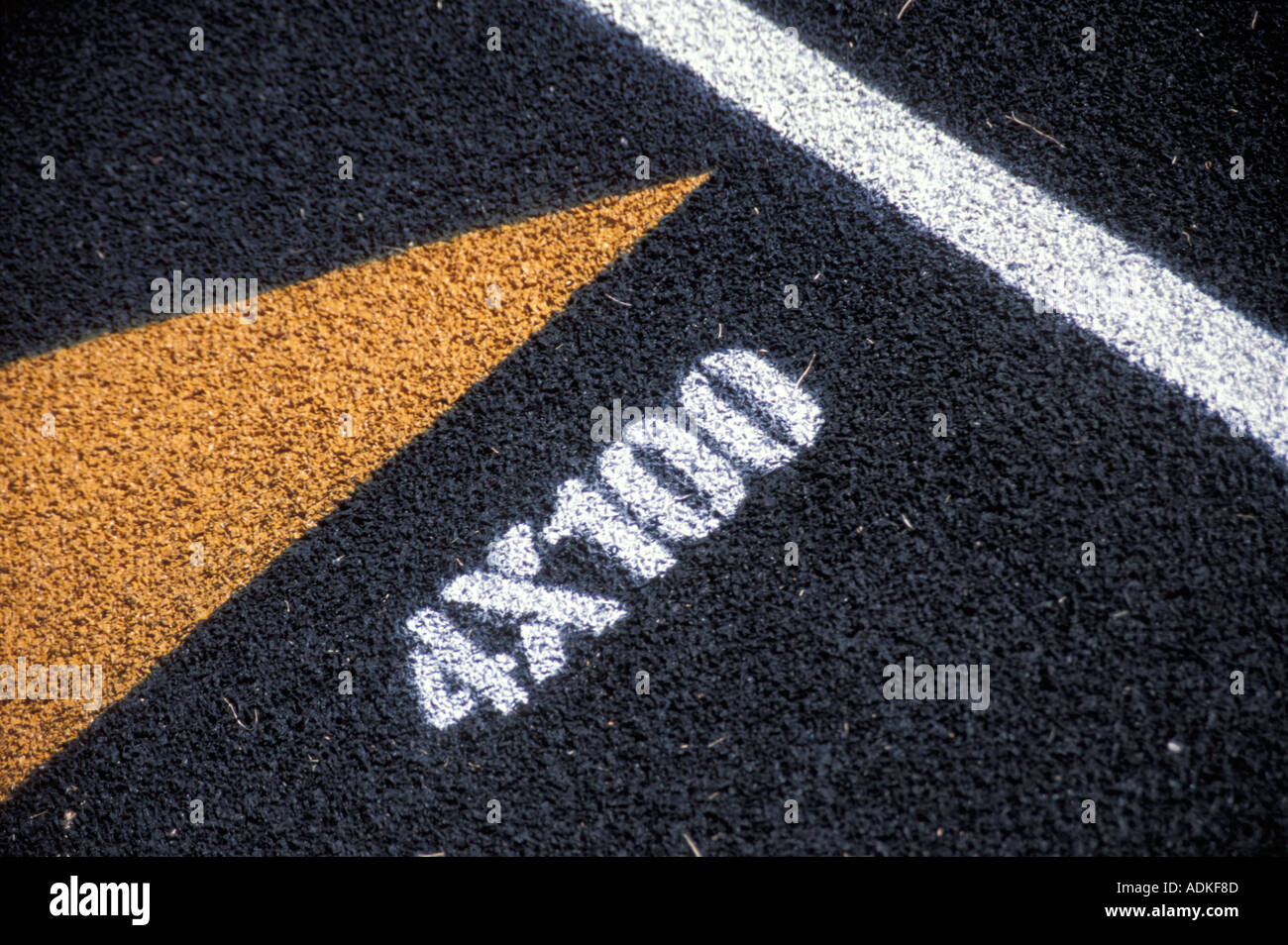 Track For The 4x100 Relay - Stock Image