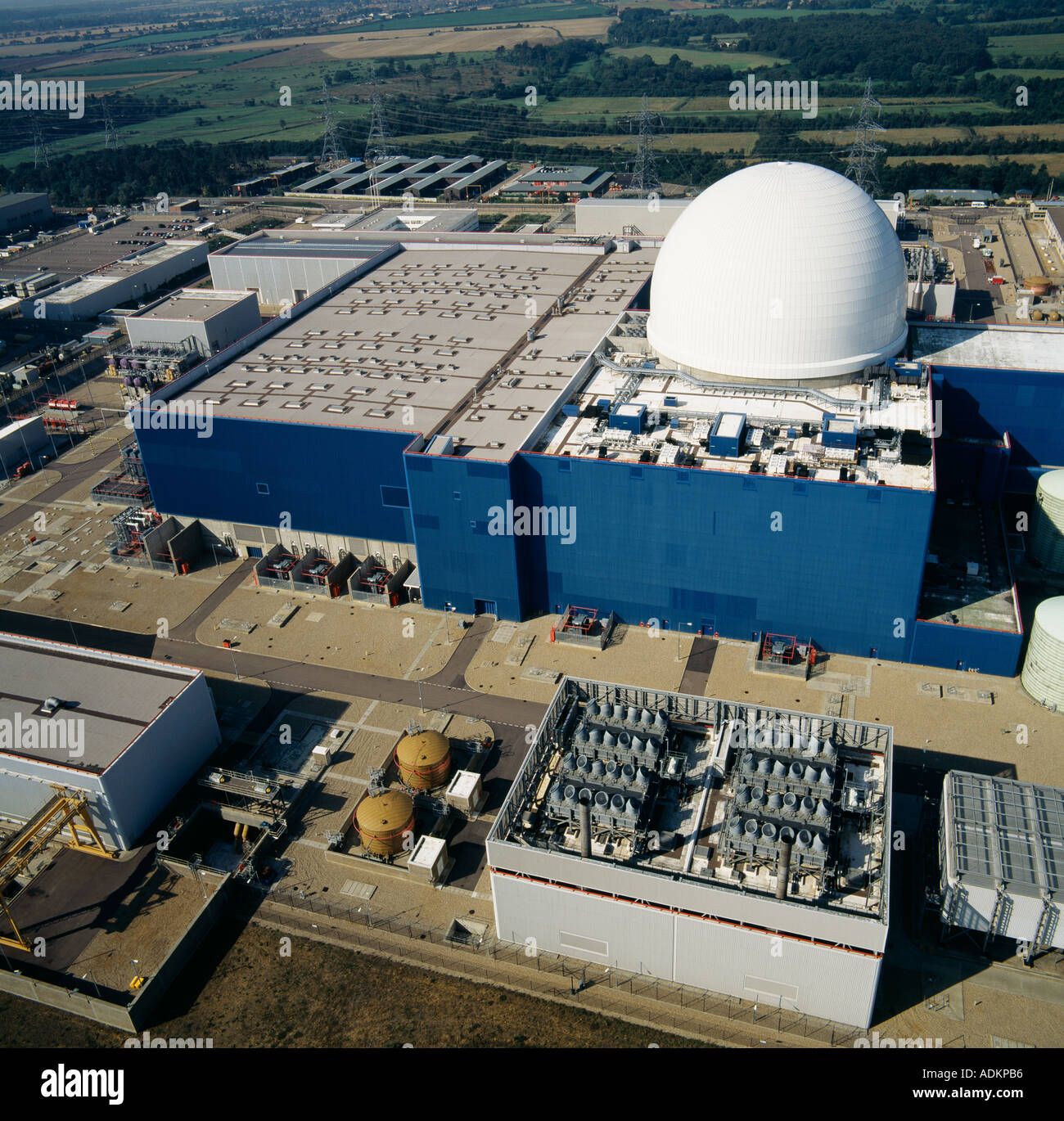 Sizewell B Nuclear Reactor Power Station Suffolk UK aerial view - Stock Image