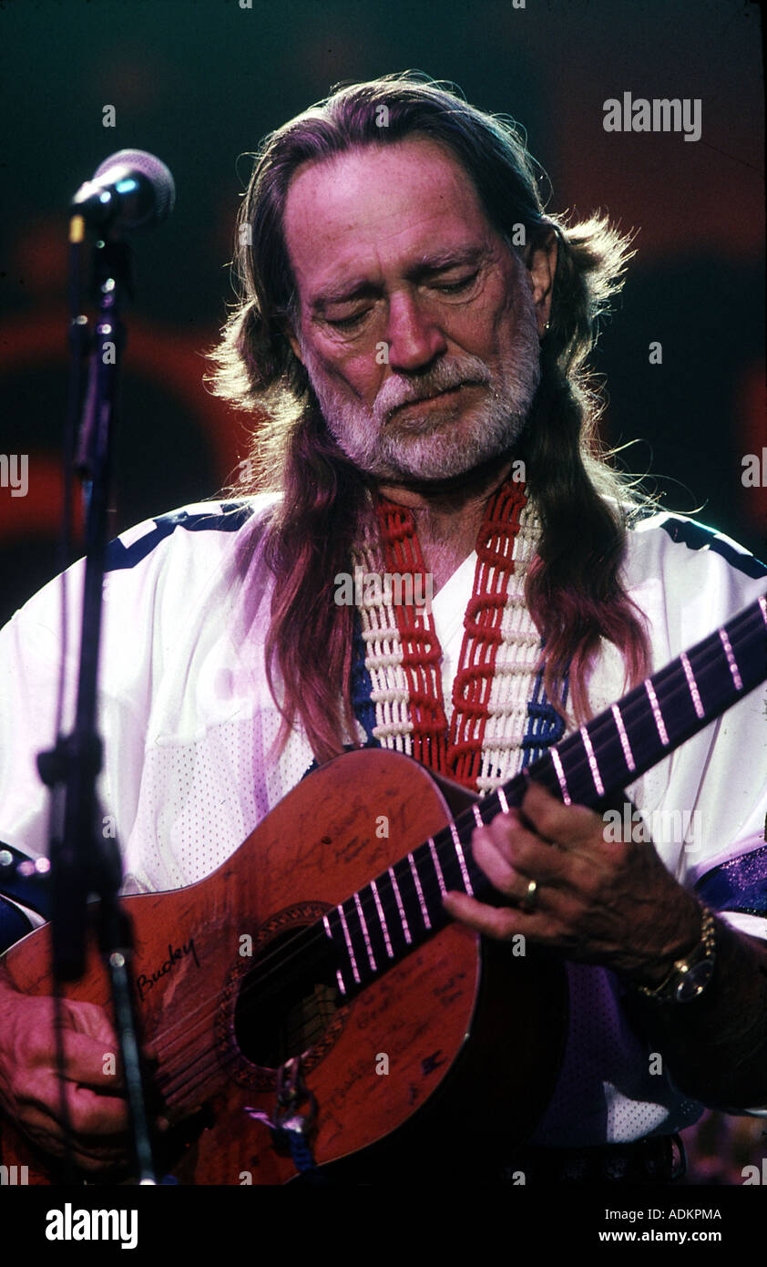WILLIE NELSON US  Country  musician - Stock Image