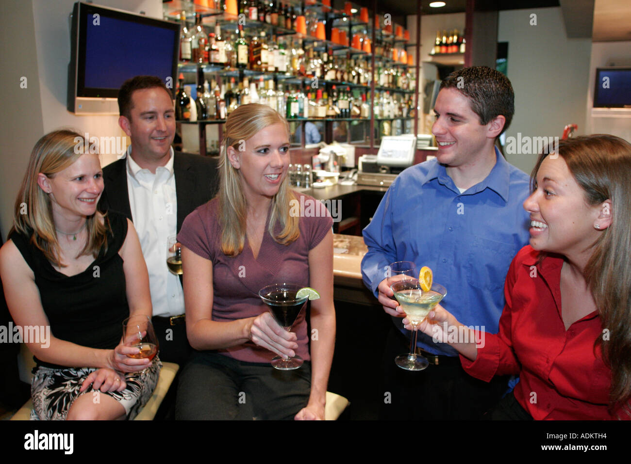 Norfolk Virginia Dominion Tower Vintage Kitchen bar alcohol drinks men  women socializing networking