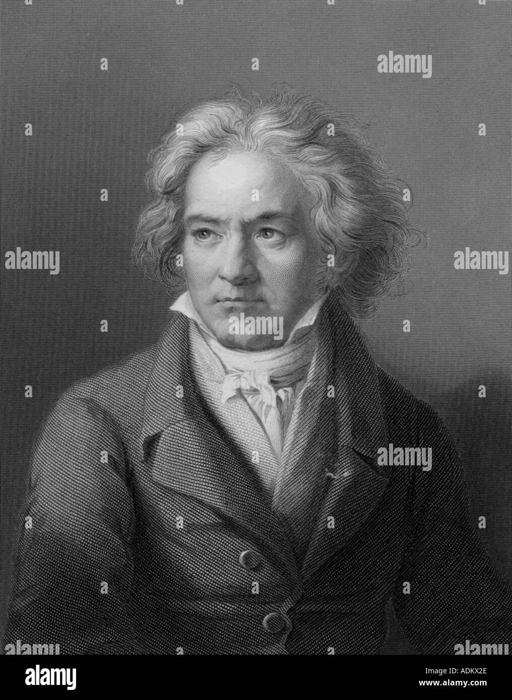 BEETHOVEN LUDWIG VAN BEETHOVEN German composer 1770 1827 - Stock Image